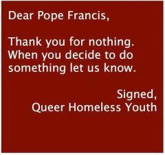 dear pope