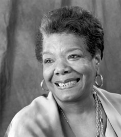 The inimitable Dr Maya Angelou