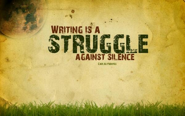 writing against the silence
