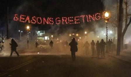 Ferguson, Missouri aflame
