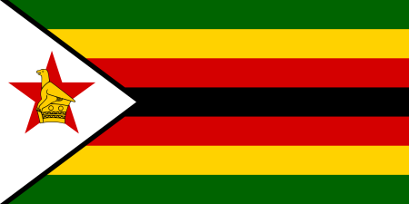Zimbabwean flag, courtesy of Wikimedia Commons