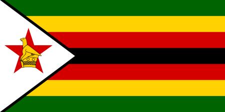 Zimbabwean flag, courtesy of Wikimedia Commons